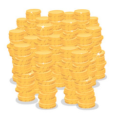 isolate big pile of gold coins money vector image vector image