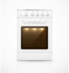 Isolated gas stove vector image