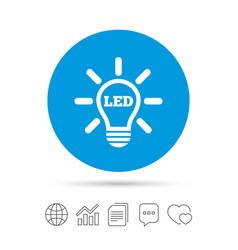 Led light lamp icon energy symbol vector