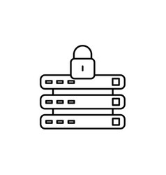 Locked data connection icon vector