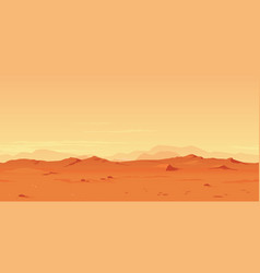 martian landscape background vector image