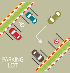 parking zone conceptual vector image vector image