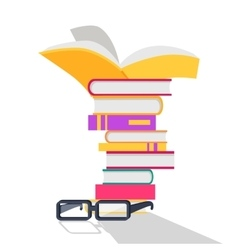 Reading books concept in flat design vector