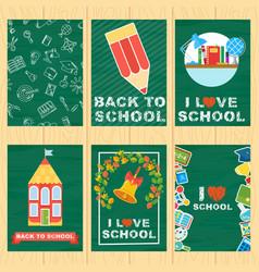 School banners set vector