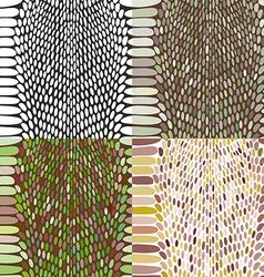 Snake skin texture set seamless pattern black on vector