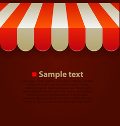 store striped awning background vector image vector image