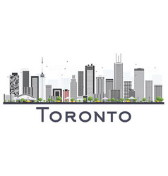 Toronto canada city skyline with color buildings vector