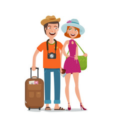 Travel journey honeymoon trip concept people vector