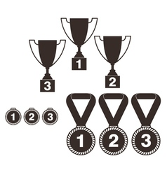 Trophy set vector