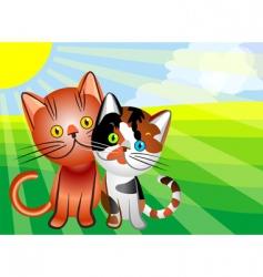 Vector cat love vector