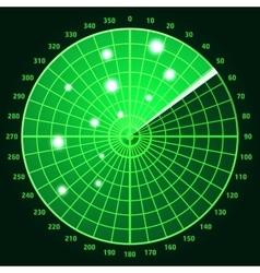 Green radar screen vector image