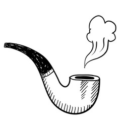 Doodle pipe smoke vector