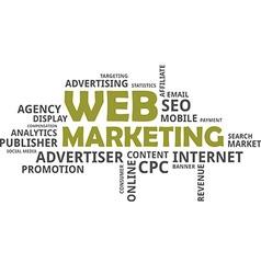 word cloud web marketing vector image