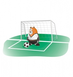 Bear soccer goalkeeper vector