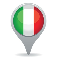 italian flag pointer vector image