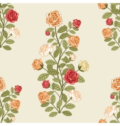 Floral pattern with roses vector