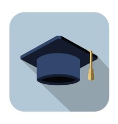 graduation cap vector image