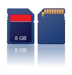 Memory card vector