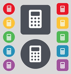 Calculator bookkeeping icon sign a set of 12 vector