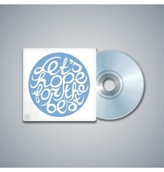 Mixed cd cover mockup template with lettering vector