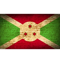 Flags burundi with dirty paper texture vector