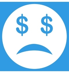 Bankrupt smiley icon vector