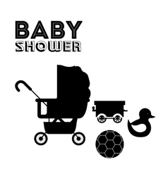 Baby shower design vector