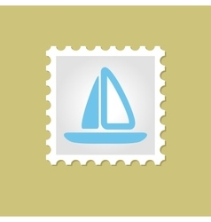 Sailboat stamp vector