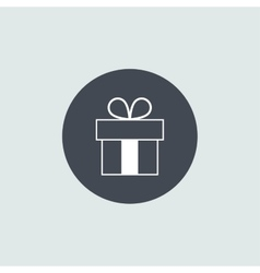 Icon christmas gift box for holiday season vector