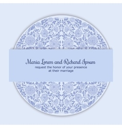 Wedding invitation decorated with round ornament vector