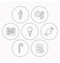 Ice cream candy icons vector image