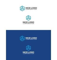 abstract trio logo vector image vector image