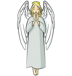 angel nimb color vector image