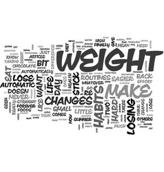 Automatic weight loss text word cloud concept vector