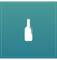 Bottle of alcohol icon vector