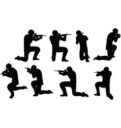 Businessman soldier shoot vector