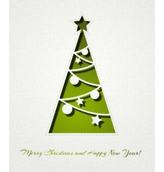 Christmas tree background vector image vector image