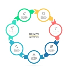 Circular infographics Business diagram with 7 vector image