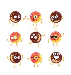 Donuts - set of mascot vector