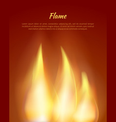 flames from candles with text vector image vector image