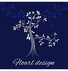 Floral design card vector