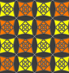 Geometrical arabian ornament with slim wire yellow vector