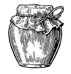 Jar vintage engraved vector