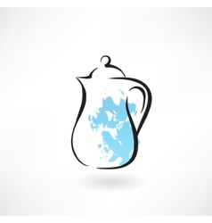 Milk jug grunge icon vector