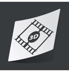 Monochrome 3d movie sticker vector