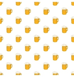 Mug with beer pattern cartoon style vector image vector image