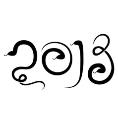 New 2013 year of snake vector image vector image