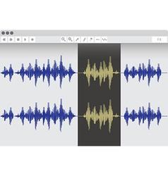 WaveEditor vector image vector image
