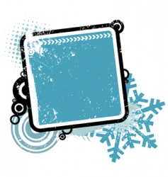 winter concept frame vector image