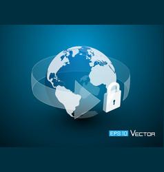 world lock security vector image vector image